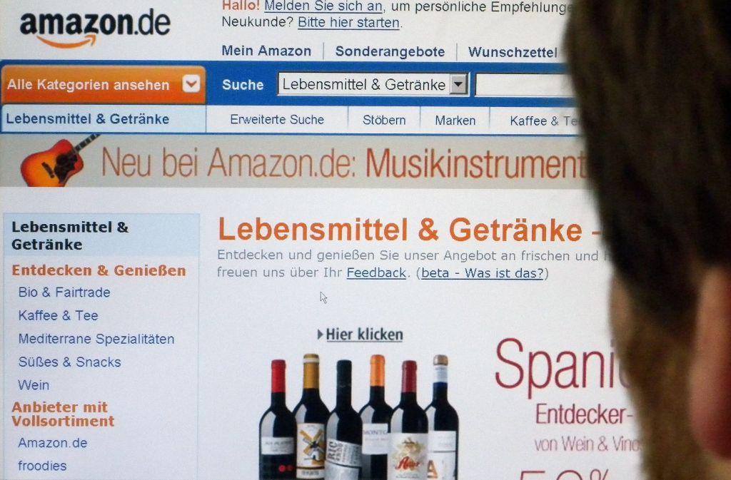 Deutschland hinkt beim Online-Handel mit Lebensmitteln hinterher. Bei Amazon verdichten sich die Anzeichen für einen Einstieg in dieses Geschäft. Foto: dpa