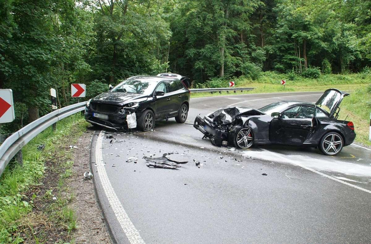 Der Unfall ereignete sich bei Neuhausen im Enzkreis. Foto: SDMG/Gress