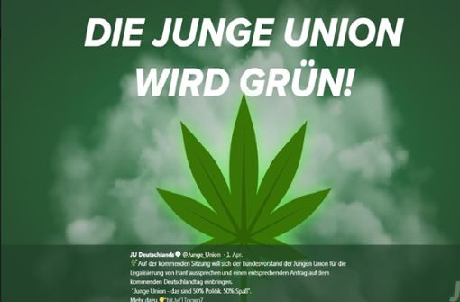 Junge Union Stuttgart für Cannabislegalisierung