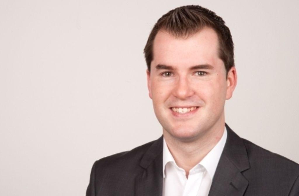 Simon Weißenfels ist seit 2011 Göppinger Kreischef der Jungen Union. Foto: Andreas Weidmann