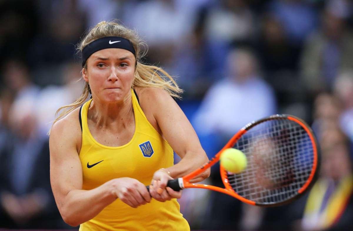 In Stuttgart am Ball: Elina Svitolina aus der Ukraine Foto: Baumann/Julia Rahn