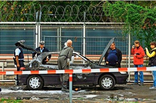 Im ausgebrannten Wrack des Ex-Neonazis Florian H. hat die Polizei einen Schlüssel übersehen. Foto: dpa