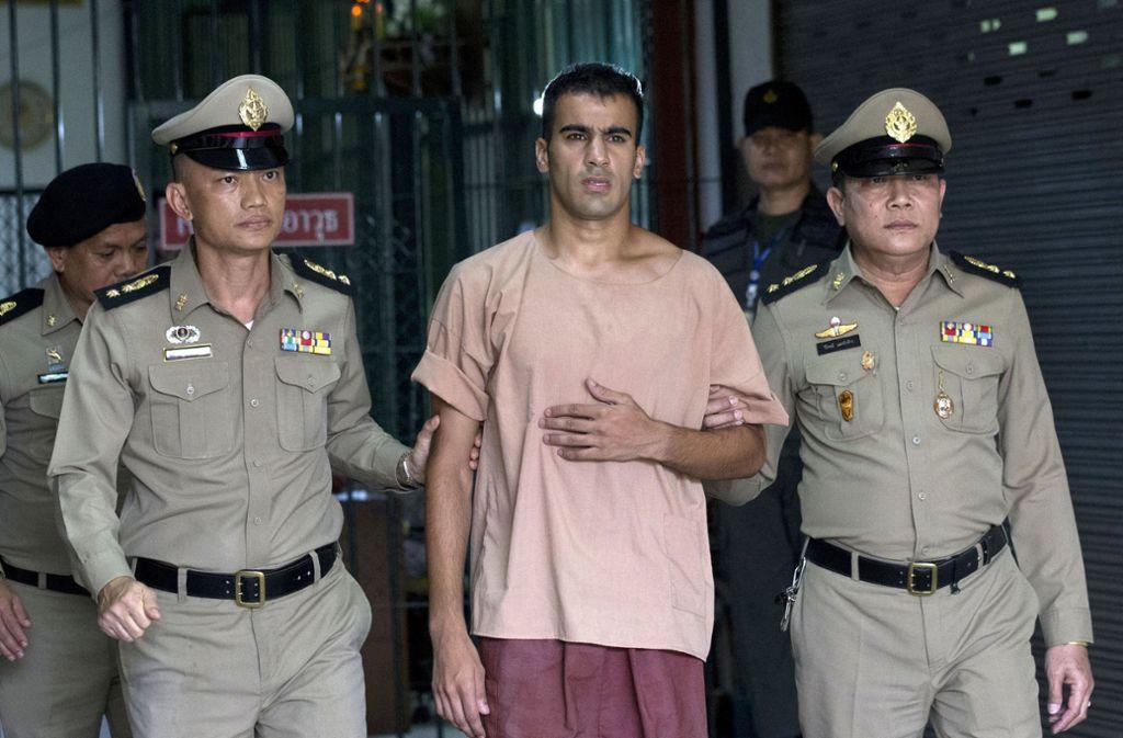 Der Fußballer Hakeem Al-Araibi sitzt seit Ende November in Thailand in Haft. Foto: AP