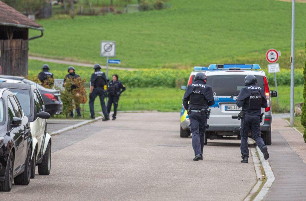 Vor Ort fanden die Polizisten Platzpatronen. Foto: 7aktuell.de/Simon Adomat