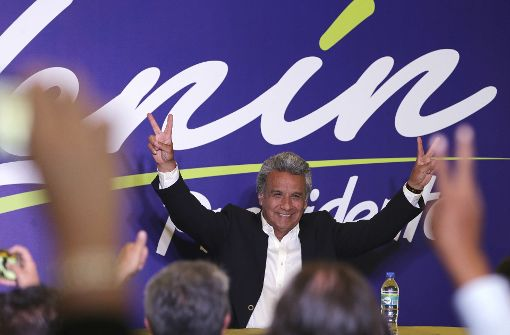 Ex-Vizepräsident Moreno liegt laut ersten Prognosen vorn