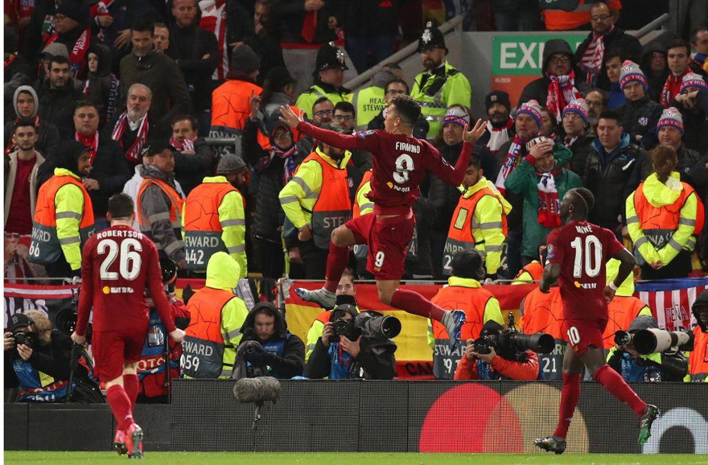 Das Spiel zwischen dem FC Liverpool und Atletico Madrid fand vor 52.000 Zuschauern statt. Foto: imago images/Action Plus/David Blunsden