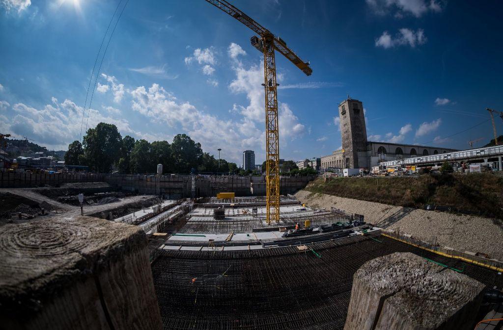 Die Bahnhofsbaustelle kann wieder besichtigt werden. Foto: Lichtgut/Max Kovalenko