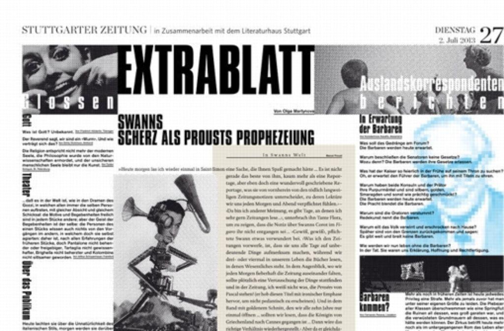 """Ein Blick auf das neue """"Extrablatt"""" Foto: StZ"""