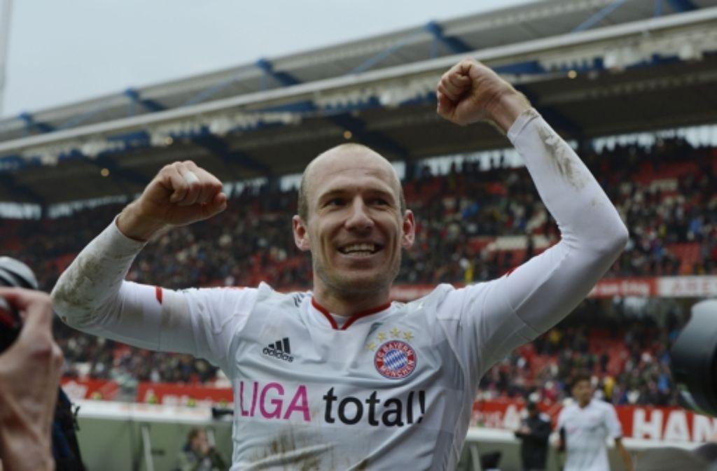 Schnell und spritzig: Arjen Robben hat in München wieder Spaß. Foto: dapd