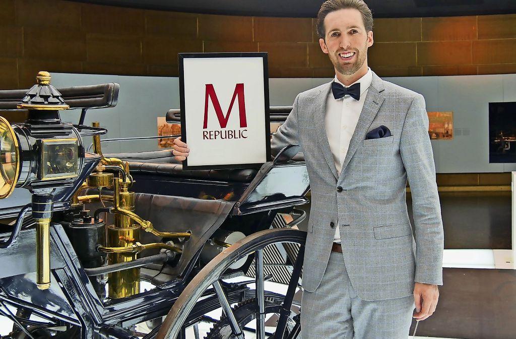 M:Lounge-Gründer Ronald M.  Arndt  am Montag im Mercedes-Benz-Museum. Foto: M:Republic