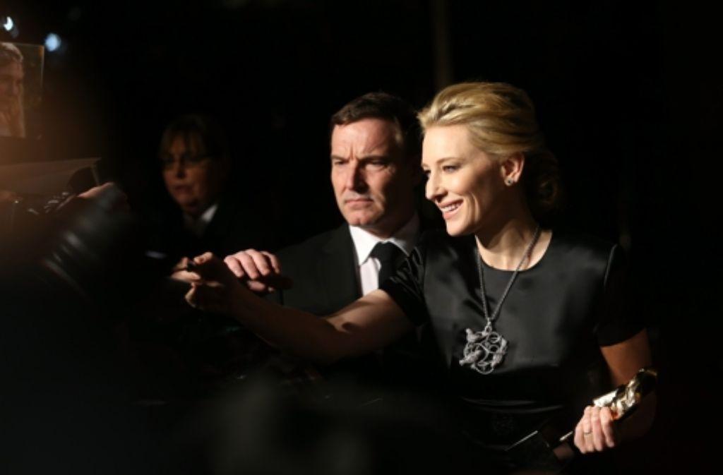 Für ihre Rolle in Blue Jasmine räumt Cate Blanchett einen Preis nach dem anderen ab. Jetzt nahm sie den Bafta mit nach Hause. Foto: Getty Images Europe