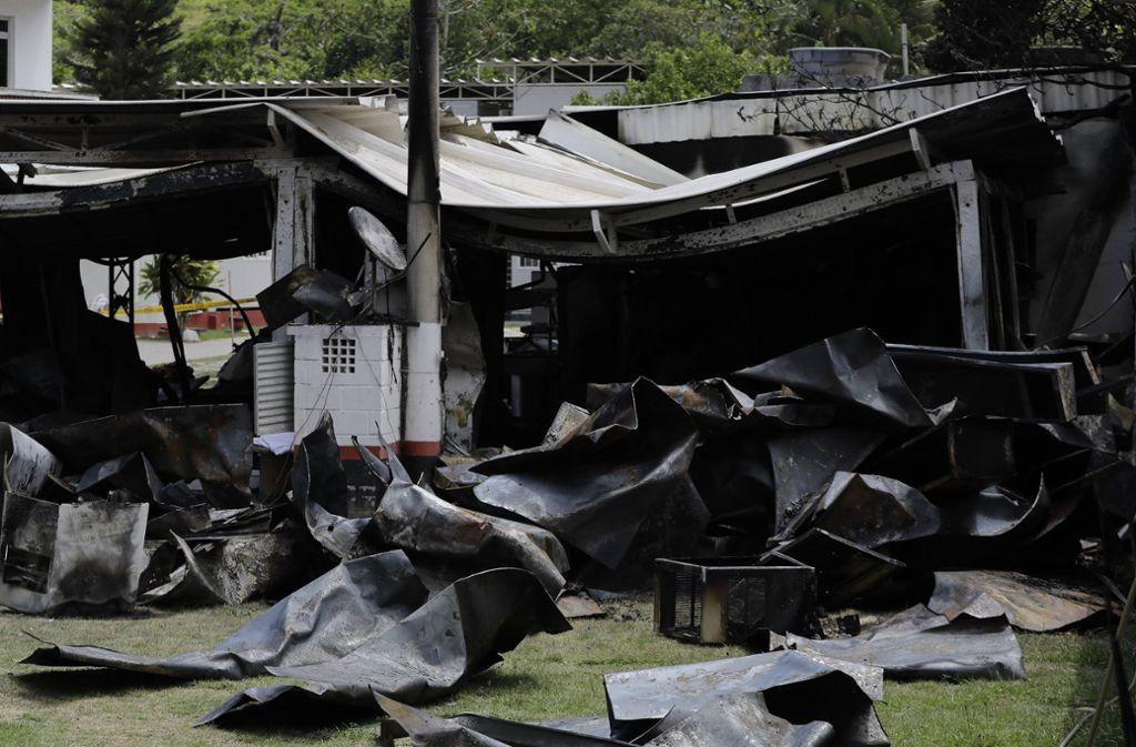 Eine defekte Klimaanlage soll den Brand ausgelöst haben. Foto: AP