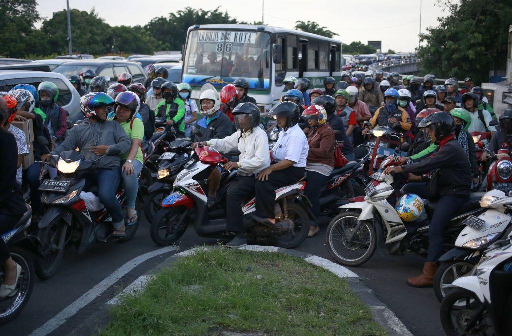 Da ist was los: Rush Hour im indonesischen Jakarta. Foto: AP