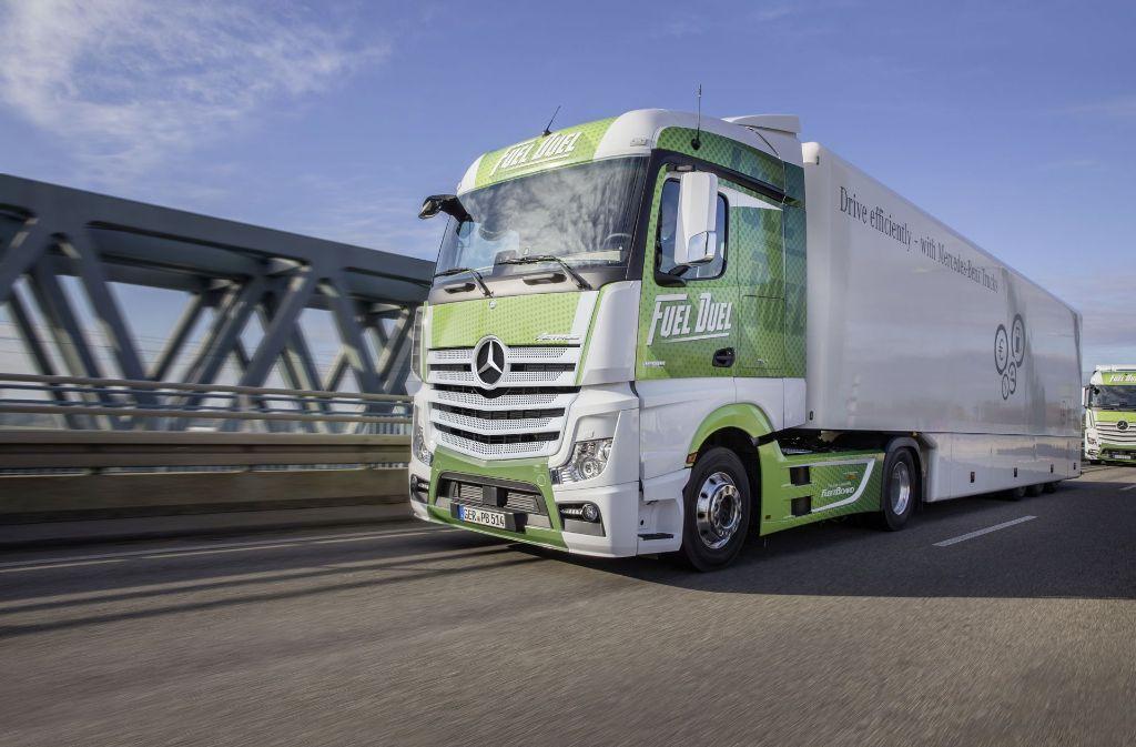 Die Chefs sind unzufrieden mit der Lastwagensparte, obwohl der Actros gefragt ist. Foto: Daimler AG