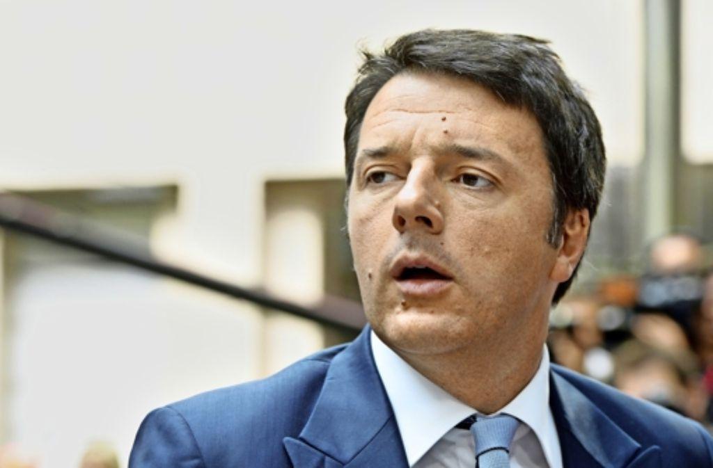 Italiens Premier Matteo Renzi ist enttäuscht von der EU. Foto: AFP