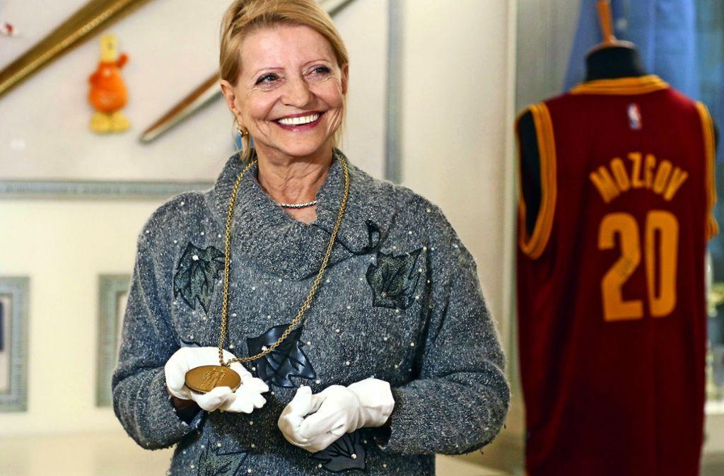Eine lebende Turn-Legende: Die gebürtige Weißrussin Olga Korbut. Foto: imago//Vladimir Gerdo