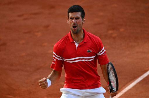 Novak Djokovic dreht Finale gegen Stefanos Tsitsipas