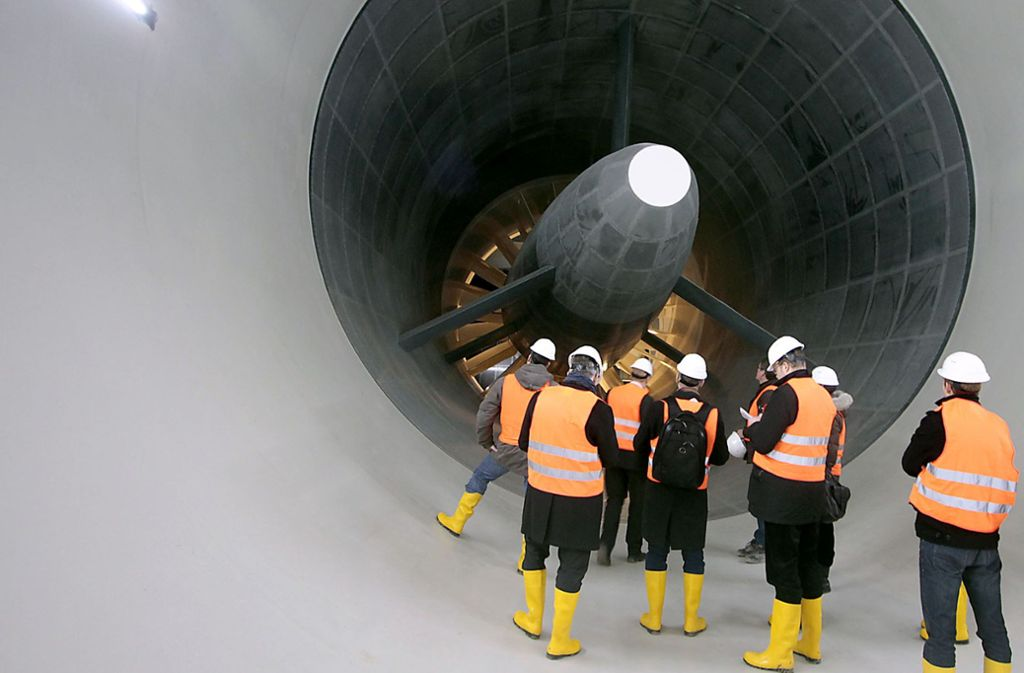Die riesigen Turbinen machen Wind. Foto: factum/ Granville