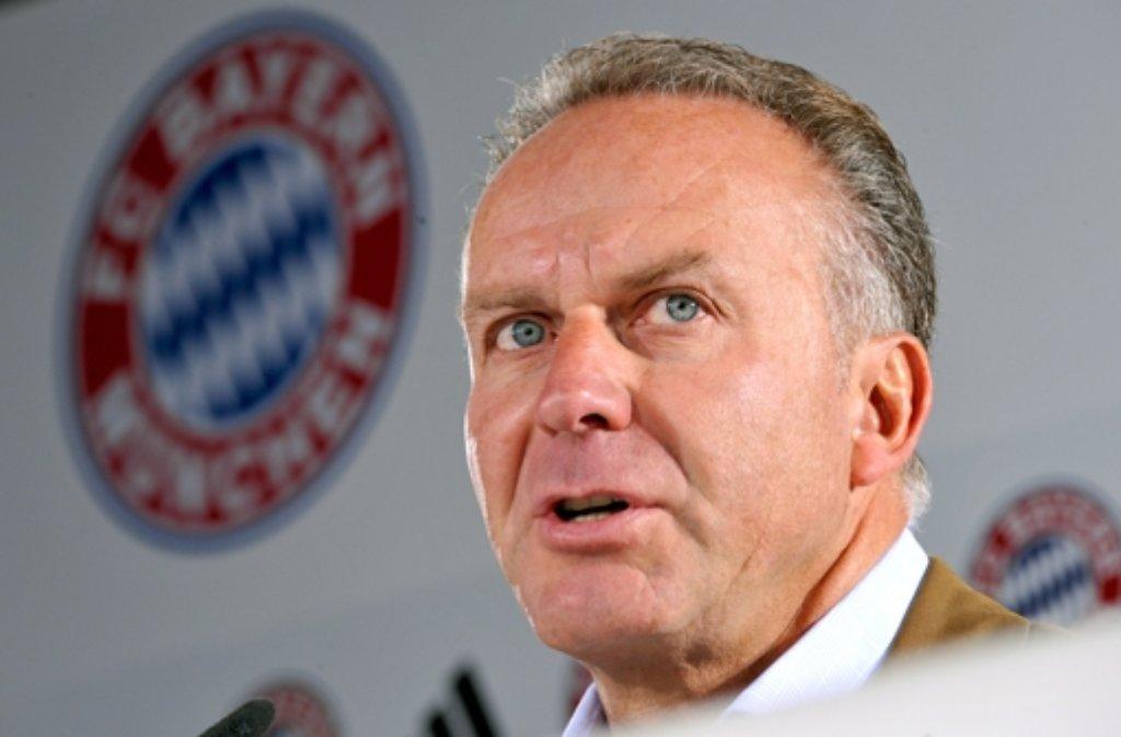 Trinkfester Bayern-Boss: Karl-Heinz Rummenigge Foto: dpa