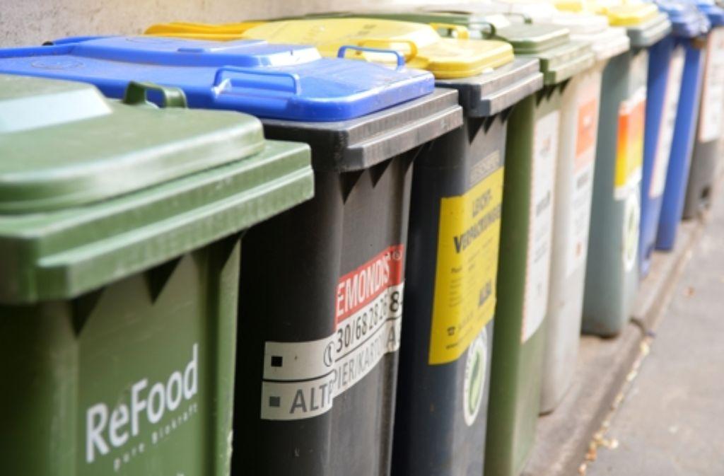 Jedem Müll sein Plätzchen Foto: dpa Themendienst