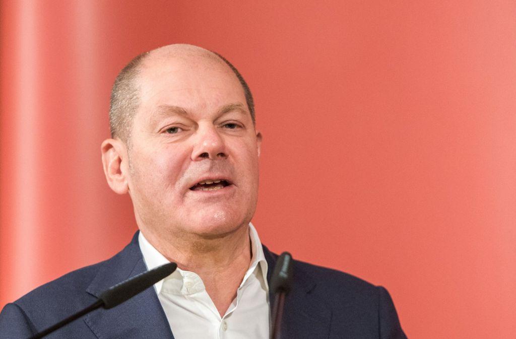 Olaf Scholz wird die SPD kommissarisch führen. Foto: dpa