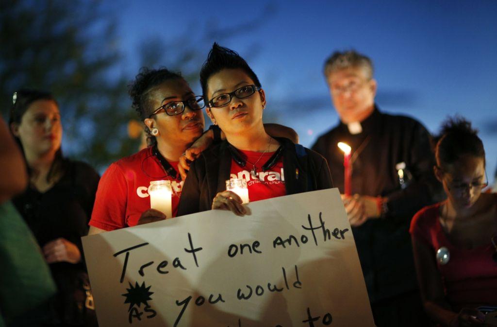 Trauer nach dem Massaker von Orlando. Foto: AP