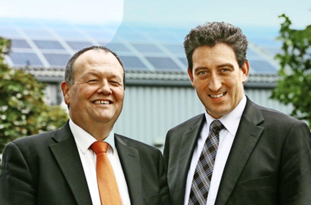 Michael Maxelon (rechts) gibt seinen Posten als technischer Geschäftsführer der Stadtwerke auf. Der kaufmännische Geschäftsführer Martin Rau bleibt. Foto: Achim Zweygarth