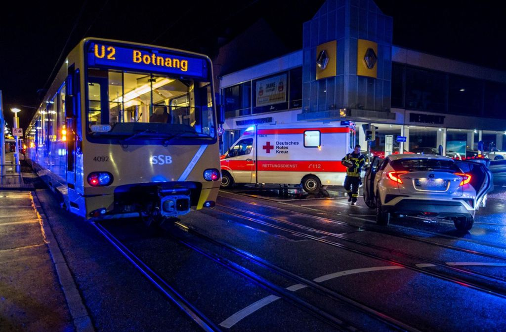 Stadtbahn-Unfall in Stuttgart-Ost in der Nacht auf Freitag. Foto: 7aktuell.de/Simon Adomat