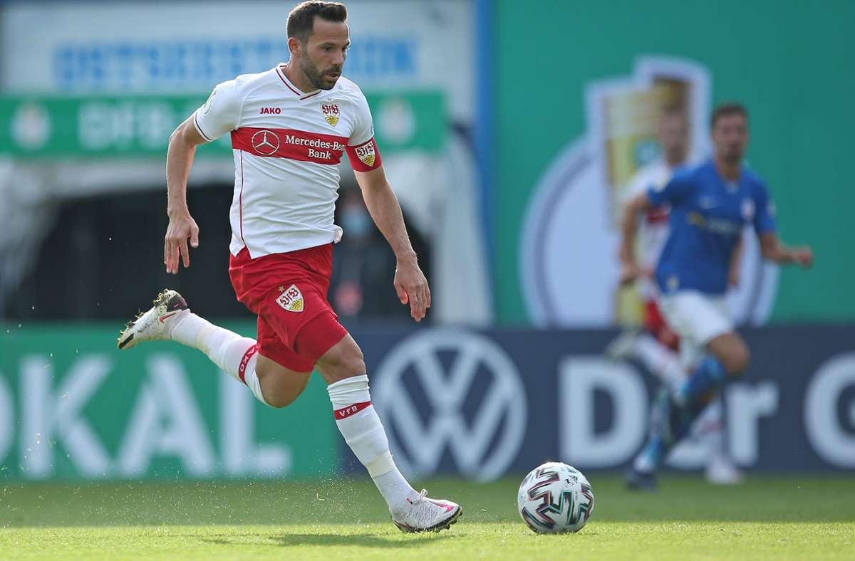 Einer der vielen erfahrenen Spieler, die in der Bundesliga die Spielführerbinde tragen: VfB-Kapitän Gonzalo Castro. Foto: Baumann