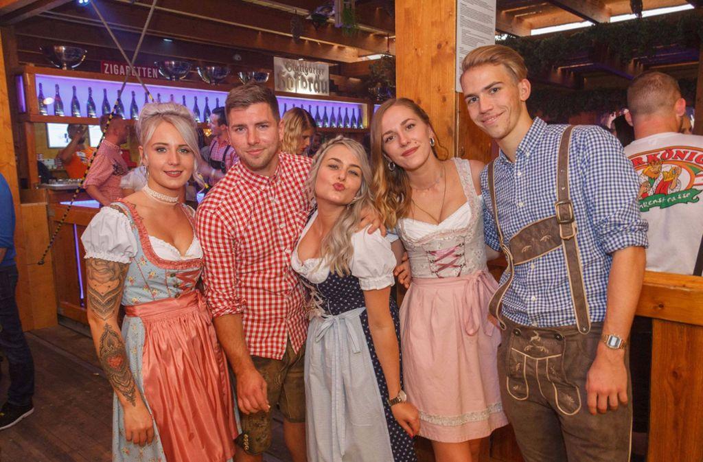 Am Feiertag wurde auf dem Cannstatter Volksfest richtig Gas gegeben. Foto: 7aktuell.de/Daniel Boosz/Daniel Boosz