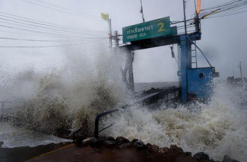 """""""Pabuk"""" erreicht Thailand mit Starkregen und Böen"""