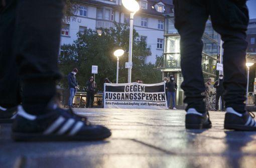 Protest gegen Corona-Politik am Marienplatz