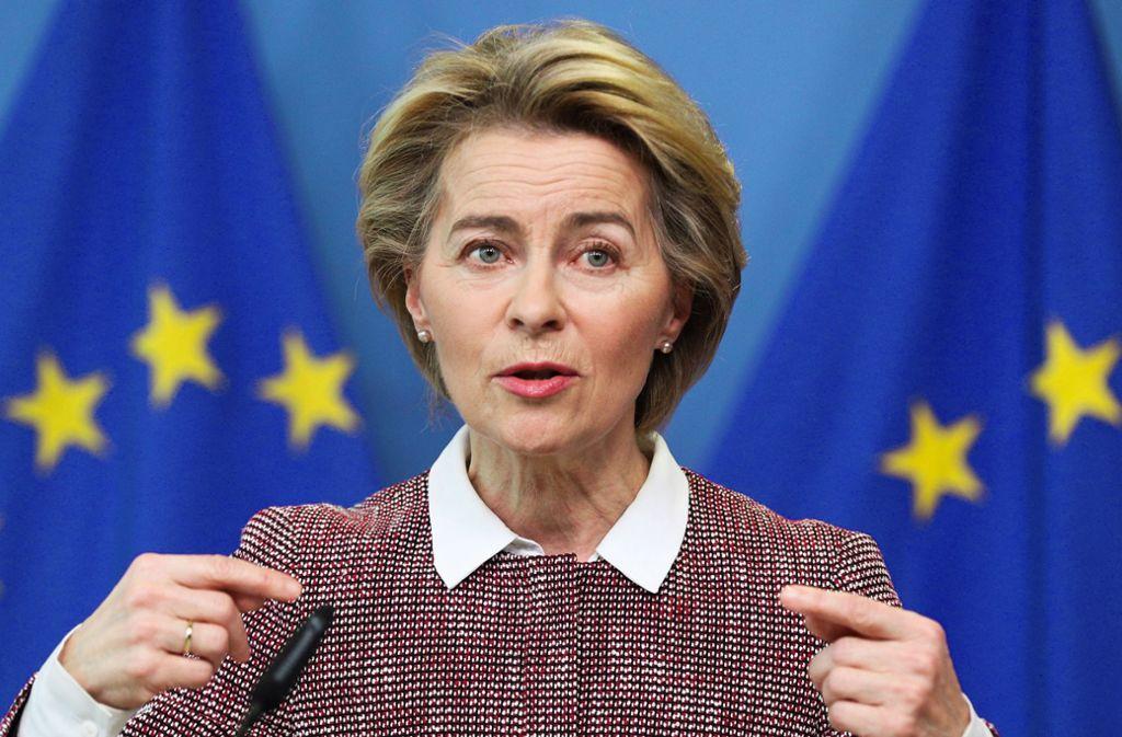 EU-Kommissionspräsidentin von der Leyen  zieht auch Ärger auf sich. Foto: dpa/Zheng Huansong