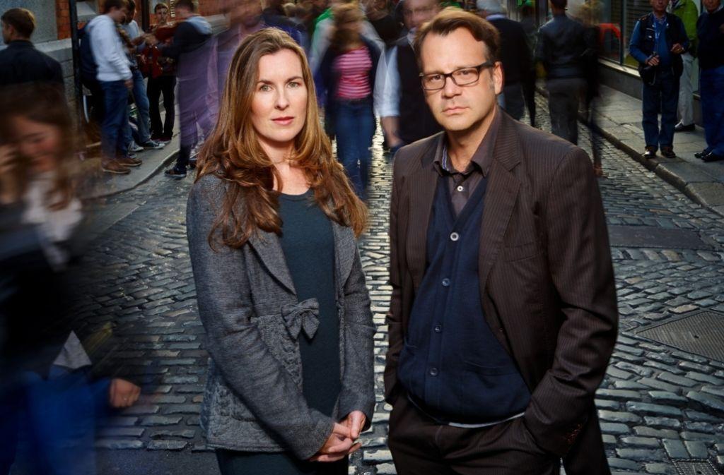 """Karen Gillece und Paul Perry sind das Autorenduo, das sich hinter """"Karen Perry"""" verbirgt. Foto: Gaby Gerster"""