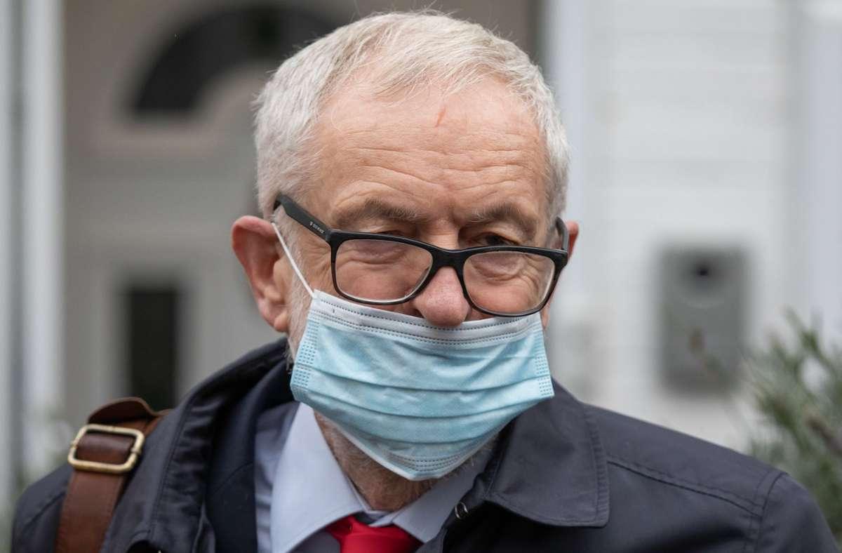 Jeremy Corbyn ist nach Antisemitismus-Vorwürfen suspendiert worden. Foto: dpa/Aaron Chown
