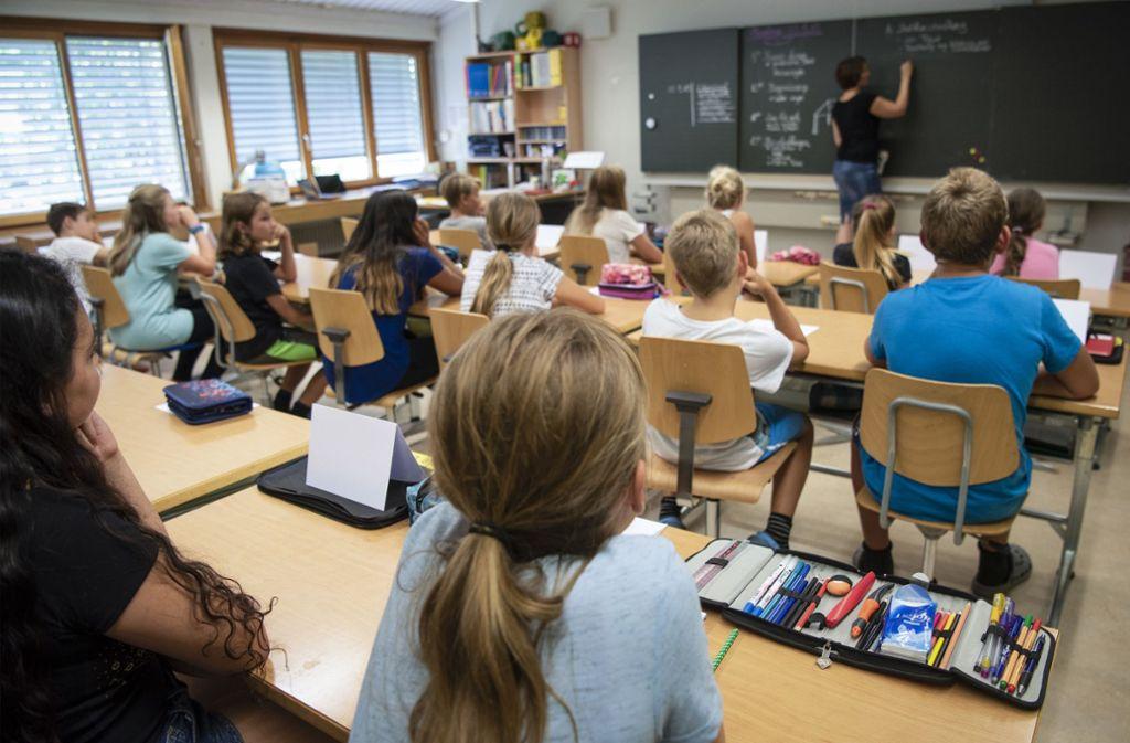Grundschulklassen sind kleiner als Gymnasialklassen. Foto: Archiv