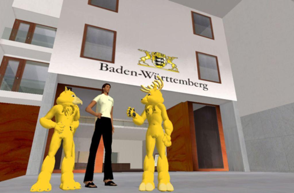 In der virtuellen Welt gibt es auch eine Baden-Württemberg-Vertretung. Foto: dpa