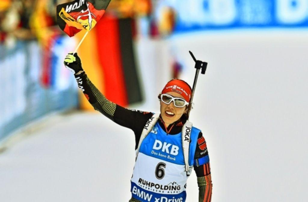 Laura Dahlmeier ist Deutschlands neuer Biathlonstar. Foto: AFP