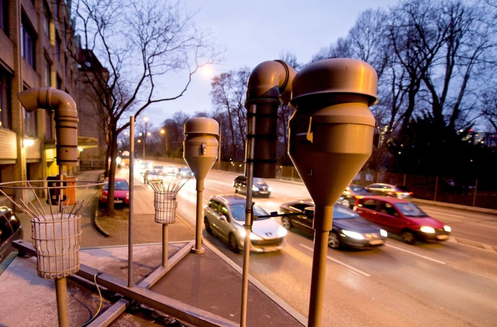 Feinstaubmessstation Stuttgart am Neckartor. (Archivfoto) Foto: dpa