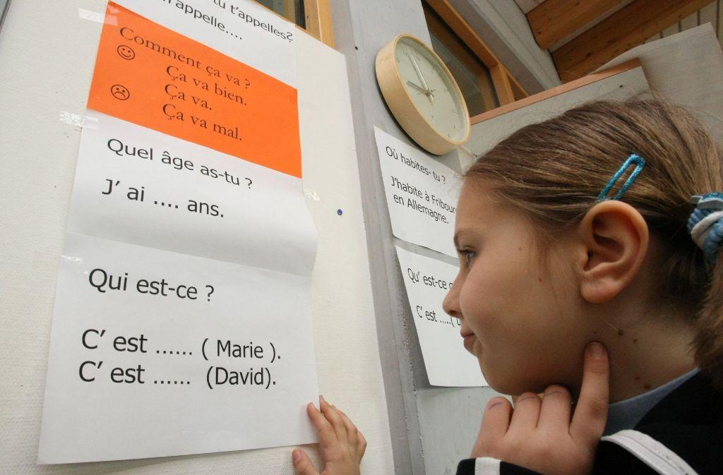 Französischunterricht an einer Freiburger Grundschule. Foto: dpa