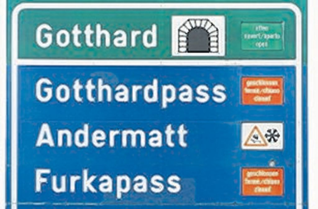 Das Schild zum Tunnel. Foto: SoAk