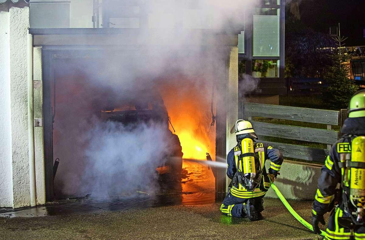 In Schorndorf ist vor Kurzem ein BWM in Brand geraten. Foto: 7aktuell.de/Simon Adomat