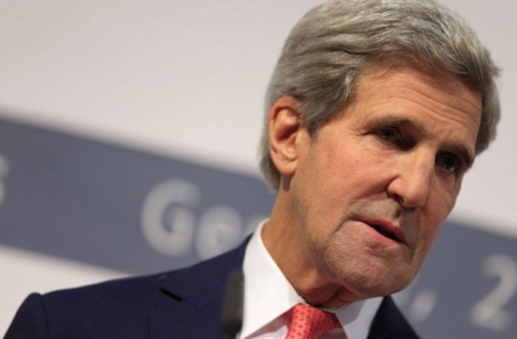 John Kerry verbucht einen außenpolitischen Erfolg Foto: AFP