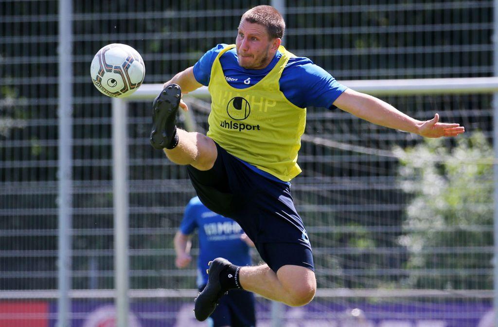Gibt immer Vollgas – im Training und im Spiel: Rückkehrer Patrick Auracher. Foto: Baumann