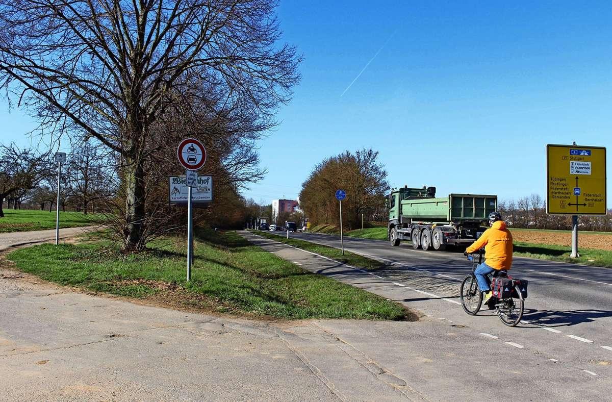 Der Radweg zwischen Sielmingen und Bonlanden soll ertüchtigt werden. Foto: Holowiecki