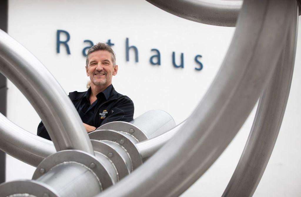 """Licht ist sein Hobby und sein Steckenpferd: Werner Rennings freut sich auf das Lichtspektakel  """"Waiblingen leuchtet"""" am 19. Oktober, bei dem er und sein Team kräftig mitmischen. Foto:Frank Eppler Foto:"""