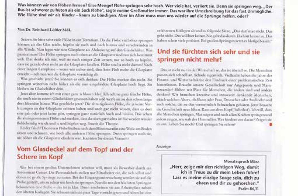 CDU-Kandidat Reinhard Löffler hat in Trottwar ein Plagiat unter seinem Namen drucken lassen.  Foto: StZ