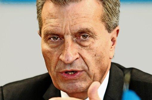 Günther Oettinger will die Wettbewerbsfähigkeit stärken. Foto: dpa