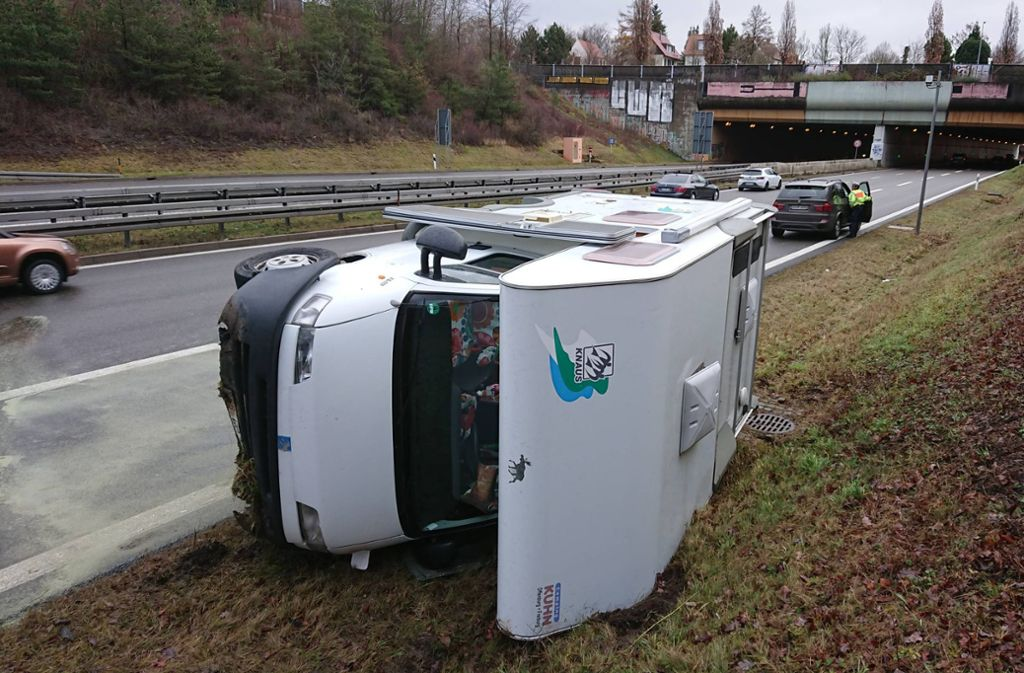 Die Fahrerin wollte abbremsen und geriet ins Schleudern. Foto: 7aktuell.de | Oskar Eyb