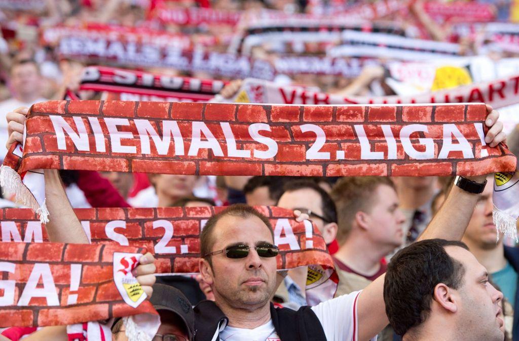 Niemals zweite Liga, das wünschen sie sich in Stuttgart. Doch zwischen Wunsch und Wirklichkeit klafft immer mal wieder eine verdammt große Lücke. Foto: dpa